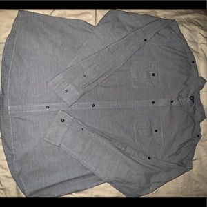 Old Navy men's 3XL grey button up long sleeve